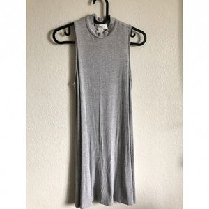 Forever 21 Gray High Neck Mini Summer Dress